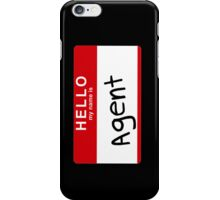 Uh- His first name is Agent iPhone Case/Skin