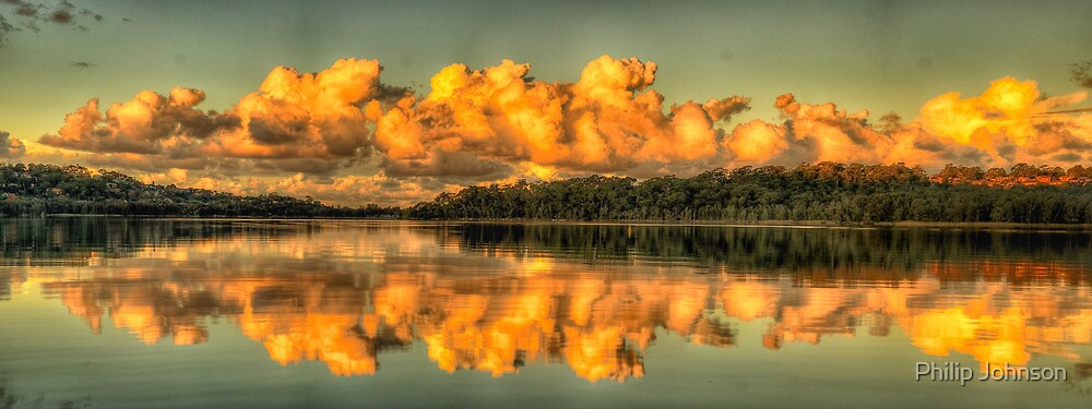 Mirror Image - Narrabeen Lakes, Sydney Australia - The HDR Experience by Philip Johnson