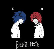 DeathNote Kira and L by dhmolson