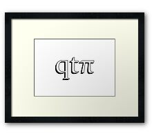 qtπ - cutie pie Framed Print
