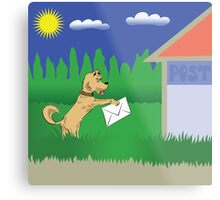 dog and letter Metal Print