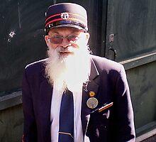Tram Driver & his Beard - Bendigo Vic. Australia by EdsMum