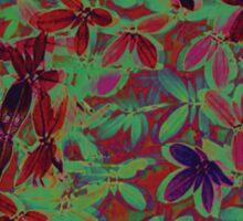 Flora Celeste Purple Agata Leaves Sticker