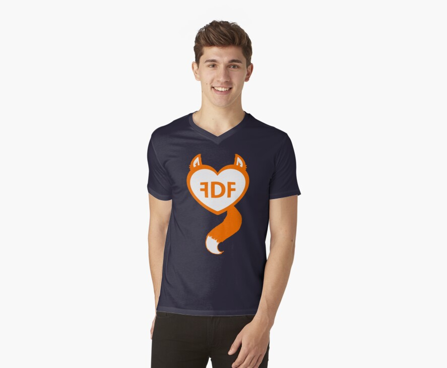 FDF Furry Heart Orange by FDFSTORE