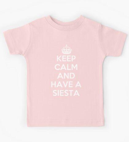 keep Calm and Have a Siesta Kids Tee