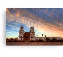 Majestic Sunset Mission San Xavier Del Bac Canvas Print