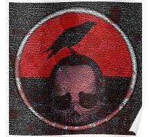 deceased mercenary patch sticker Poster