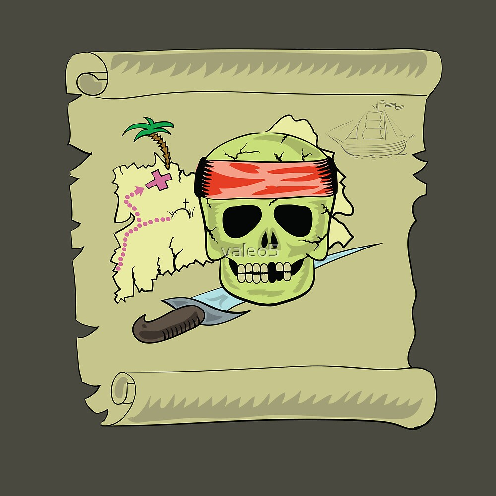 pirate map by valeo5