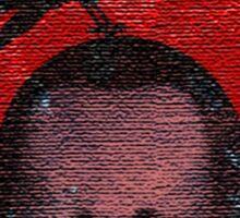 deceased mercenary patch sticker Sticker