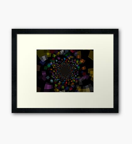 The Deep Inside In To The Galaxy Of Colors Framed Print