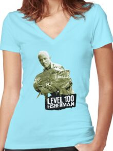 Jeremy Wade - Level 100 Fisherman Women's Fitted V-Neck T-Shirt
