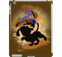 Super Smash Bros. Tan Duck Hunt Dog Silhouette iPad Case/Skin