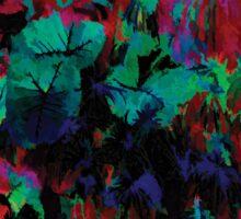 Flora Celeste Ruby Leaves  Sticker