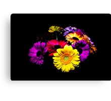 Flowers in the Dark Canvas Print