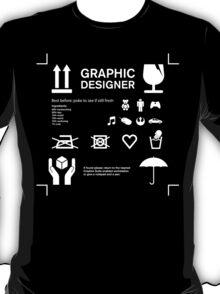 Graphic designer care & handling instructions T-Shirt