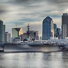 USS Midway Museum and San Diego Skyline by Joshua McDonough