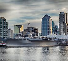 USS Midway Museum and San Diego Skyline by mcdonojj