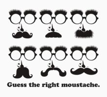 Guess the Right Moustache One Piece - Long Sleeve
