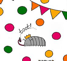 Tooting Party Woodlouse  by Laura  Lee