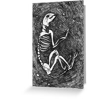Cat Skeleton Greeting Card