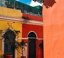 Old San Juan Street Corner by George Oze