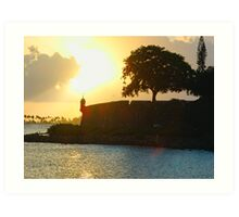 Old San Juan Sunset, Art Print
