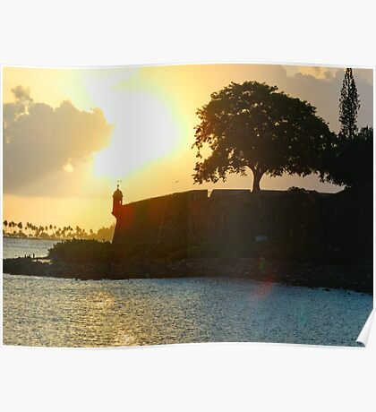 Old San Juan Sunset, Poster