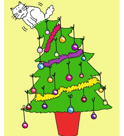 Christmas again, hang in there, cat humor. Sticker