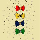 Hogwarts Houses Bowties by hollygordon