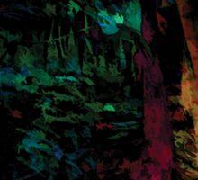 Flora Celeste Jade Forest  Sticker