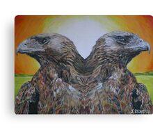 Twin Eagles, 2000 (colour pencil) Canvas Print