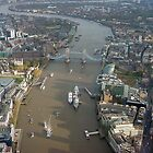 Tower Bridge from the air by paulgranahan