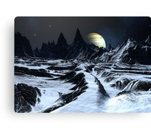 Track Across the Badlands Canvas Print