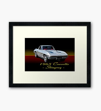 1963 Corvette Stingray w/ ID Framed Print