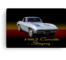 1963 Corvette Stingray w/ ID Canvas Print