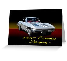 1963 Corvette Stingray w/ ID Greeting Card