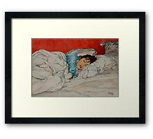 Sleeping Girl Framed Print