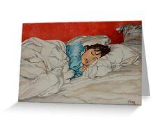 Sleeping Girl Greeting Card