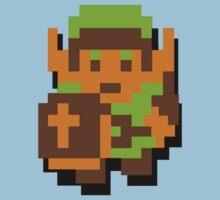Zelda Link 8-bit Nintendo Kids Tee