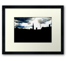Strasbourg Cathedral over the roof Framed Print