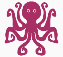 Octopus, hot pink (magenta) by Blonddesign