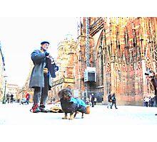 Cathédrale & hurdy gurdy man Photographic Print