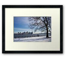 Stroll in the park. Framed Print