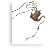Alphabet Tea Canvas Print