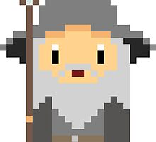 Lord of the Rings Hobbit Pixel Gandalf by natyhiga