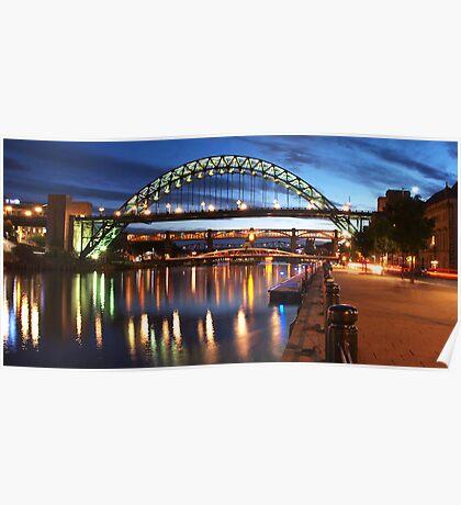Newcastle Riverside Poster