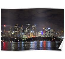 Sydney CBD shinning for New Years Eve Poster
