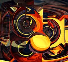 Suprised Robot abstract photographic artwork  by gails-world