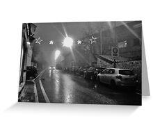 notte di pioggia Greeting Card