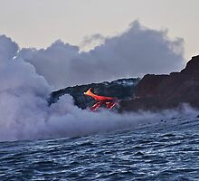 Lava Flow at Kalapana by Alex Preiss